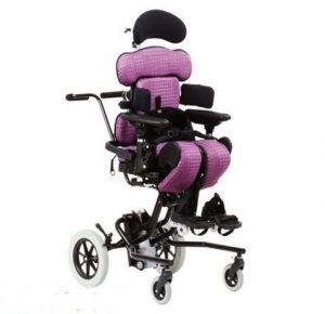 Engelli çocuk ayakta dik pozisyonlandırma cihazı